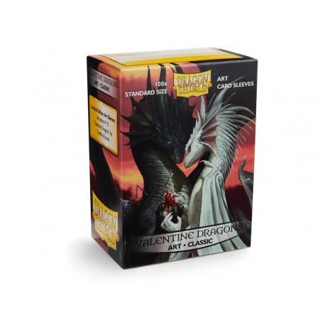 100 Bustine Protettive Standard - Dragon Shield - Valentine Dragons Art