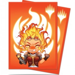 100 Bustine Protettive Standard - Ultra Pro - MTG - Chibi Collection - Chandra Maximum Power