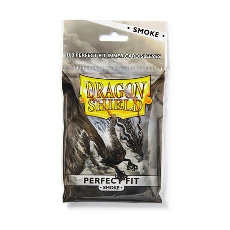 100 Sleeves Standard Perfect Fit - Dragon Shield - Smoke