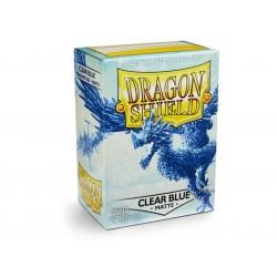 100 Sleeves Standard Matte - Dragon Shield - Clear Blue
