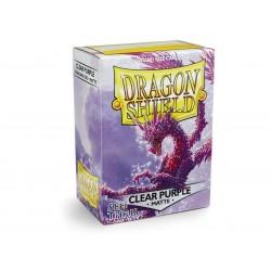 100 Sleeves Standard Matte - Dragon Shield - Clear Purple