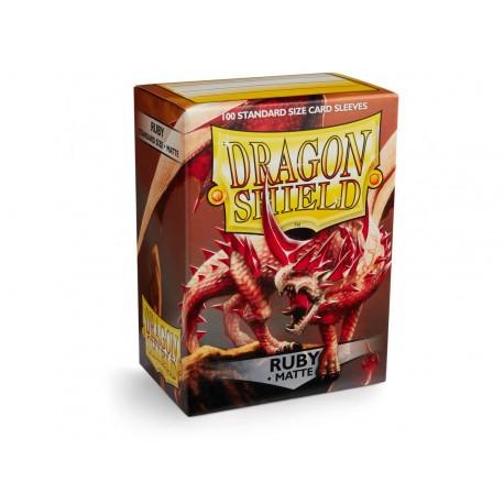 100 Sleeves Standard Matte - Dragon Shield - Ruby
