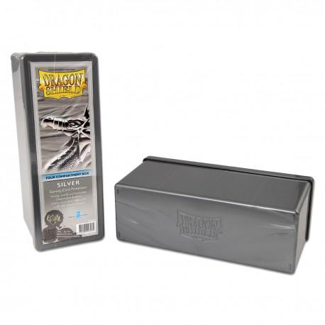 4 Compartment Box Card Box - Dragon Shield - Silver