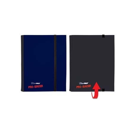 Portfolio - 4 Pocket - 20 Pages - Pro Binder Flip - Ultra Pro - Blue & Black