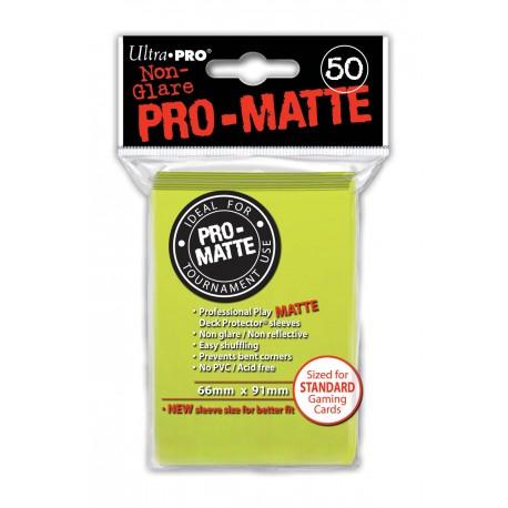 50 Bustine Protettive Standard Pro Matte - Ultra Pro - Giallo Brillante