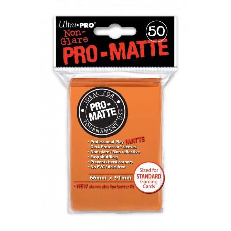 50 Bustine Protettive Standard Pro Matte - Ultra Pro - Arancione