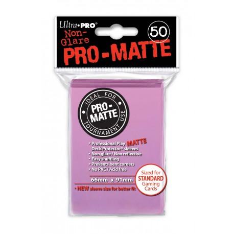 50 Bustine Protettive Standard Pro Matte - Ultra Pro - Rosa