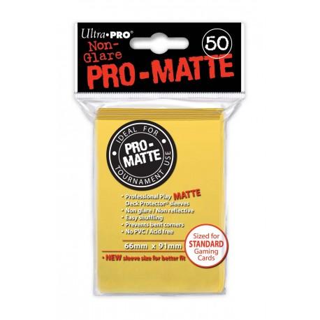 50 Bustine Protettive Standard Pro Matte - Ultra Pro - Giallo