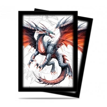 50 Bustine Protettive Standard - Ultra Pro - Black Dragon -