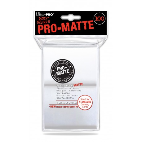 100 Sleeves Standard Pro-Matte - Ultra Pro - White