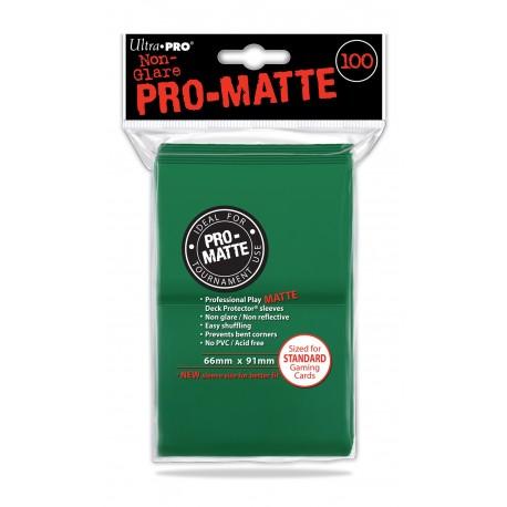 100 Bustine Protettive Standard Pro Matte - Ultra Pro - Verde
