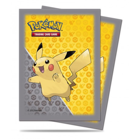 60 Sleeves Standard - Ultra Pro - Pikachu - Grey