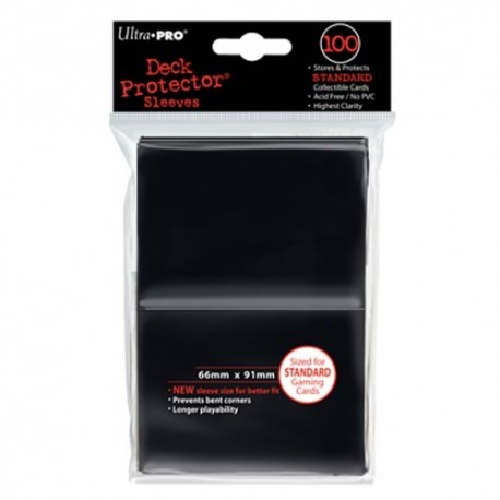 100 Sleeves Standard - Ultra Pro - Black