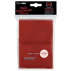 100 Bustine Protettive Standard - Ultra Pro - Rosso