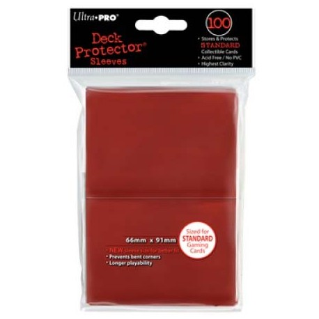 100 Sleeves Standard - Ultra Pro - Red