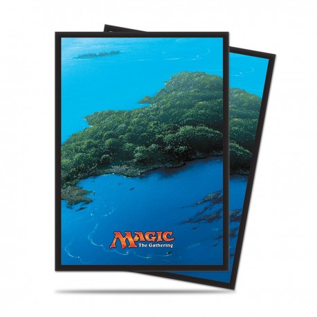 80 Sleeves Standard - Ultra Pro - Magic The Gathering - Mana 5 - Island