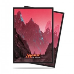 80 Bustine Protettive Standard - Ultra Pro - Magic The Gathering - Mana 5 - Montagna