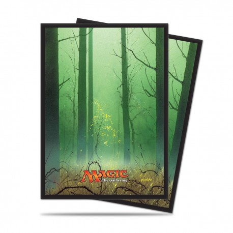 80 Bustine Protettive Standard - Ultra Pro - Magic The Gathering - Mana 5 - Foresta