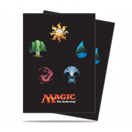 80 Sleeves Standard - Ultra Pro - Magic The Gathering - Mana 5 Symbols