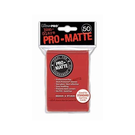 50 Sleeves Pro-Matte - Ultra Pro - Red