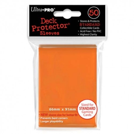 50 Bustine Protettive Standard - Ultra Pro - Arancione