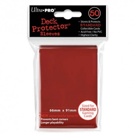 50 Bustine Protettive Standard - Ultra Pro - Rosso
