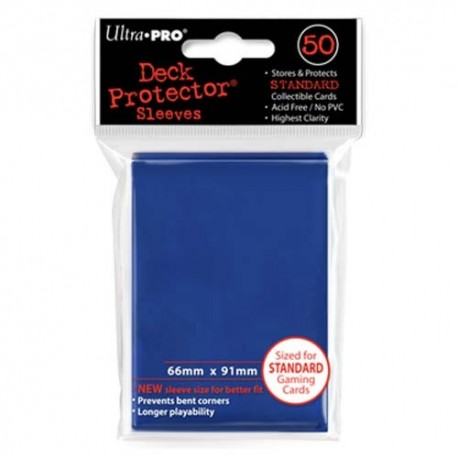 50 Bustine Protettive Standard - Ultra Pro - Blu