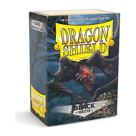 100 Sleeves Standard Matte - Dragon Shield - Black