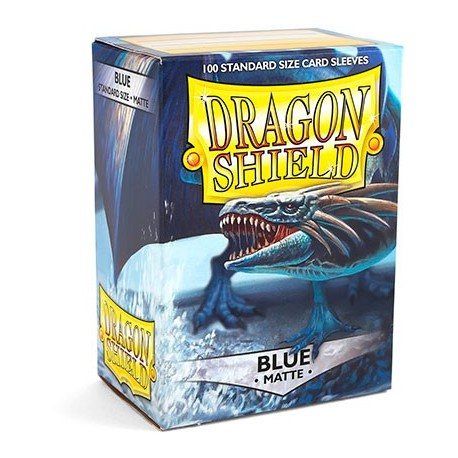 100 Sleeves Standard Matte - Dragon Shield - Blue