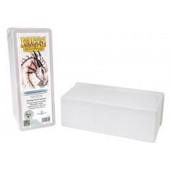 Scatola Rigida Porta Carte - 4 Compartimenti - Dragon Shield - Bianco