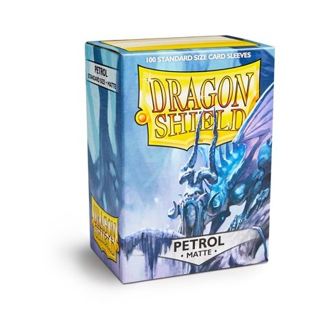 100 Sleeves Standard Matte - Dragon Shield - Petrol Blue