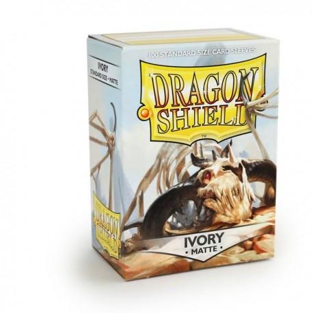 100 Bustine Protettive Standard Matte - Dragon Shield - Bianco Ivory