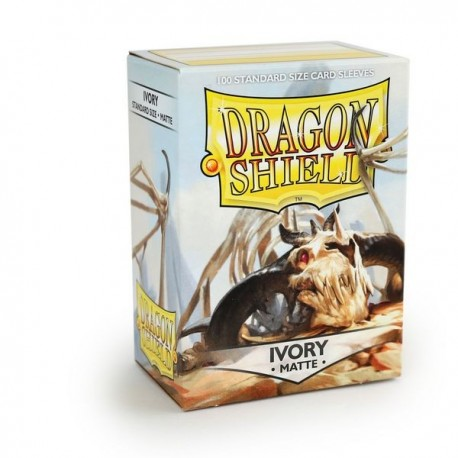 100 Sleeves Standard Matte - Dragon Shield - Ivory White