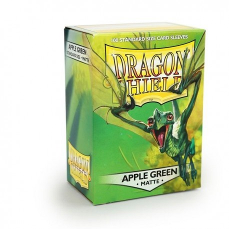 100 Sleeves Standard Matte - Dragon Shield - Apple Green