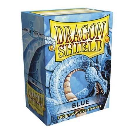 100 Sleeves Standard - Dragon Shield - Blue