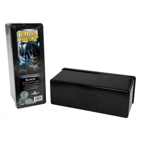 4 Compartment Box Card Box - Dragon Shield - Black