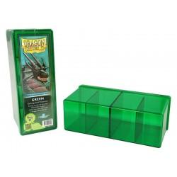 Scatola Rigida Porta Carte - 4 Compartimenti - Dragon Shield - Verde