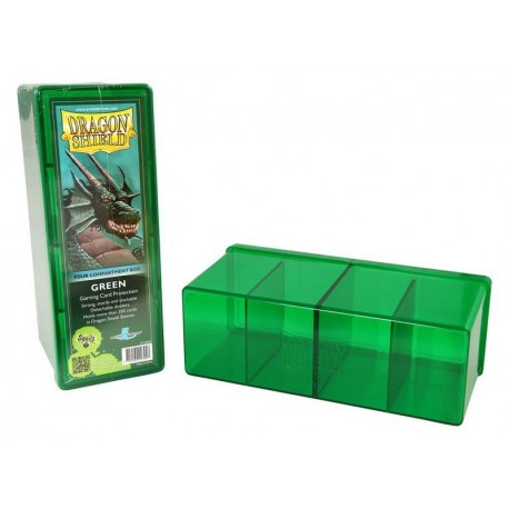 4 Compartment Box Card Box - Dragon Shield - Verde