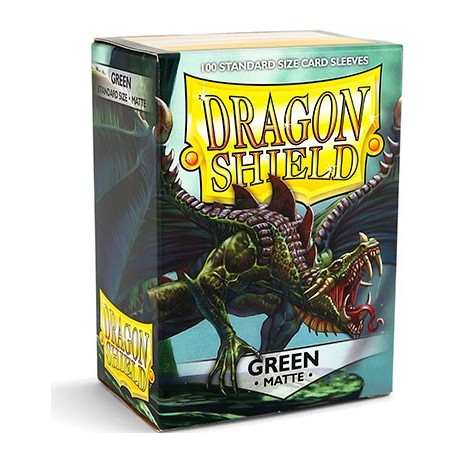 100 Sleeves Standard Matte - Dragon Shield - Apple Green