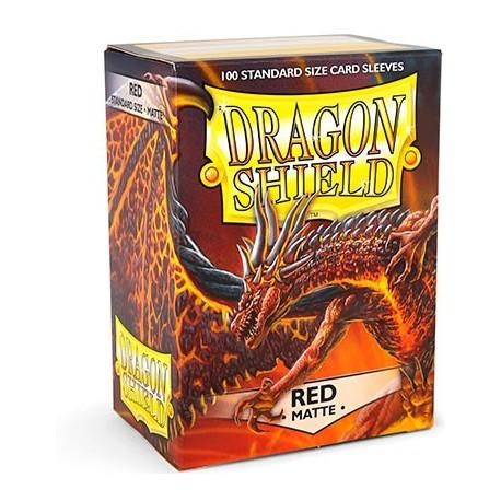 100 Bustine Protettive Standard Matte - Dragon Shield - Rosso
