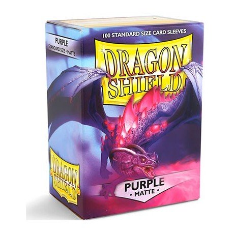 100 Sleeves Standard Matte - Dragon Shield - Purple