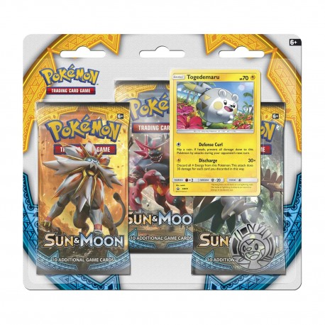 Blister of 3 Boosters of 10 Cards - Sun & Moon - ENG - Pokemon