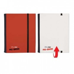 Portfolio - 4 Pocket - 20 Pages - Pro Binder Flip - Ultra Pro - Red & White