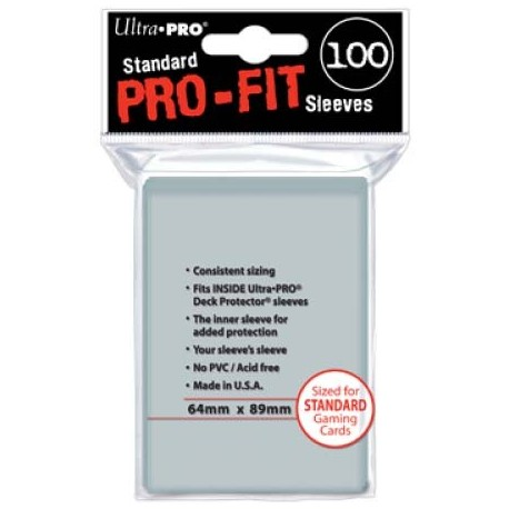 100 Sleeves Standard Perfect Pro Fit - Ultra Pro - Clear