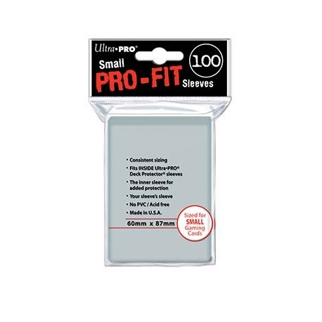 100 Sleeves Small Perfect Pro Fit - Ultra Pro - Clear