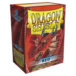 100 Sleeves Standard - Dragon Shield - Red