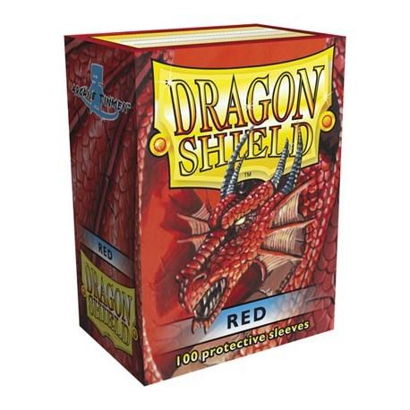 100 Bustine Protettive Standard - Dragon Shield - Rosso