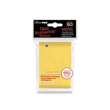 60 Bustine Protettive Small - Ultra Pro - Giallo