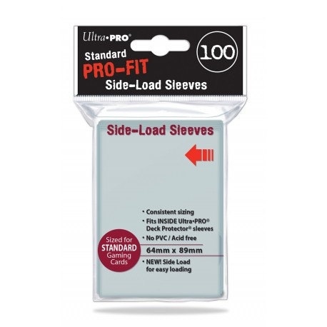 100 Bustine Protettive Standard Perfect Side Load Pro Fit - Ultra Pro - Trasparenti