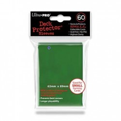 60 Sleeves Small - Ultra Pro - Green